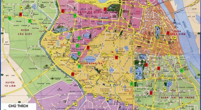 Bản đồ thành phố Hà Nội đầy đủ và chi tiết nhất