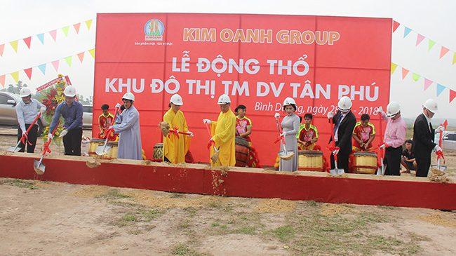 Kim Oanh Group Động Thổ Khu Đô Thị Thương Mại Tân Phú Bình Dương